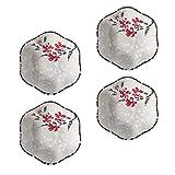 Hemoton Dipschalen Soßenschale Keramik Mini Vorspeisen Teller Dessertschale 4 Stück 4 Zoll Rosa Sushi Soja Schälchen Saucen Sojasauce Ketchup Veginer Gewürz Dessert Kleine Servierschalen