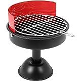 com-four® Aschenbecher aus Metall im Mini Grill Design - Grill-Aschenbecher - Ascher für den Außenbereich - Geschenk für Raucher - Zigarettenhalter (1 Stück - Grill)