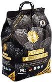 Die Kohle-Manufaktur Premium 10kg Grillbrikett, schwarz