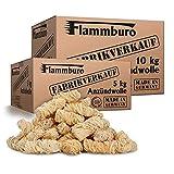 FLAMMBURO (15 kg) Öko-Anzündwolle direkt vom Hersteller, Holzwolle, zertifizierter Holz-Ursprung, FSC®-zertifiziertes Produkt, pflanzliches Wachs, ökologische Grillanzünder, Kaminanzünder, 15 kg