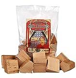 Axtschlag Räucherklötze Kirsche, 1500 g XXL Packung sortenreine faustgroße Wood Chunks zum Smoken und Räuchern über längere Zeit, für alle Grills geeignet