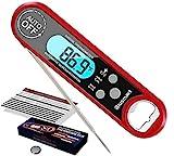 Blusmart Digital Fleischthermometer Instant Read Grillthermometer Küchenthermometer, IPX7 Wasserdicht und LCD Bildschirm, Bratenthermometer Haushaltsthermometer Ideal für Braten, BBQ, Baby-Ernährung