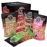 Premium Räucherchips Mix (Hickory, Apfel, Buche und Kirsche) für optimales Raucharoma beim Grillen / 100% Natürliches Smoker-Holz geeignet für Kugel- Stand und Gas-Grill (4 x 750 g)