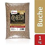 BBQ-Toro Beech Pellets aus 100% Buchenholz (1 kg) | Buchenpellets für Grill, Smoker, Pellet-Pizzaofen und Heizungsanlagen | Grillpellets
