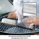Cafopgrill Pellet Smoker Tube für Barbecue Hexagonal Edelstahl BBQ Pipe Outdoor Mesh Grill Rauchgenerator
