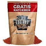 BBQ Rub 'Memphis' 270g | Trockenmarinade fr Pulled Pork & Spareribs inkl. Gratis Ratgeber | Marinadengewrz Grillgewrz Barbecue Marinade Grillsalz