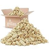 grillas Bio-Kaminanzünder und Grillanzünder 10 kg aus Holzwolle, in Wachs getränkt   Kohleanzünder   Wachsanzünder   Anzündwolle   Anzündhilfe   ohne Rückstände