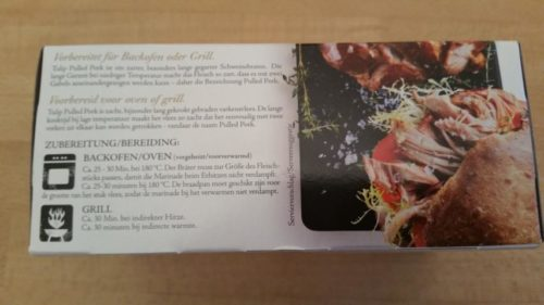 Tulip Pulled Pork Rückseite Verpackung